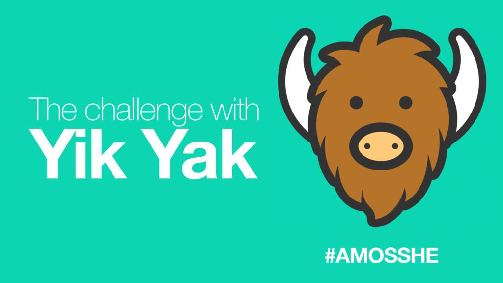 The challenge with Yik Yak #AMOSSHE