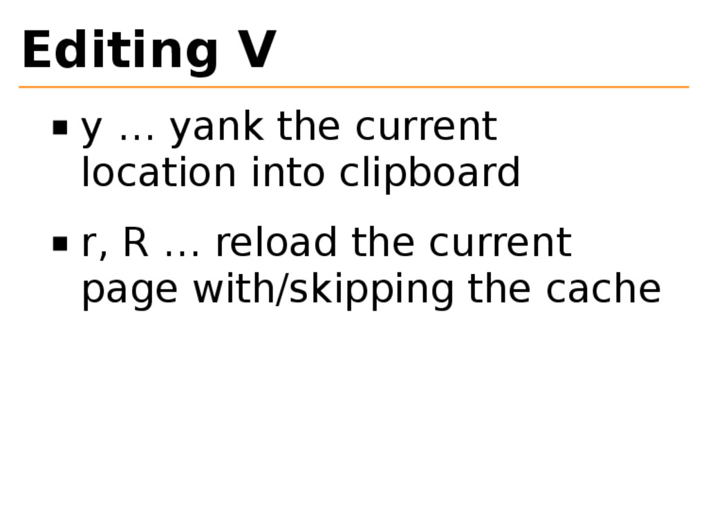 Editing V y … yank the current location into cl...