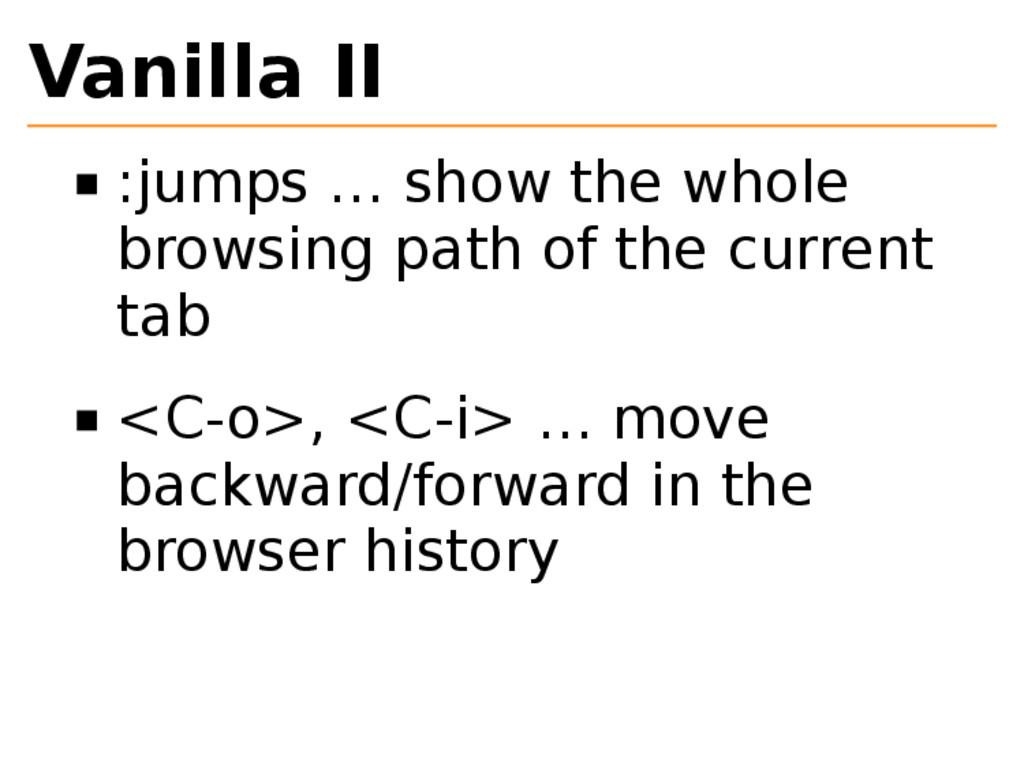 Vanilla II :jumps … show the whole browsing pat...
