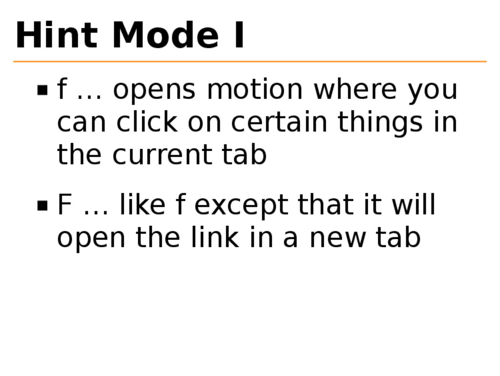 Hint Mode I f … opens motion where you can clic...