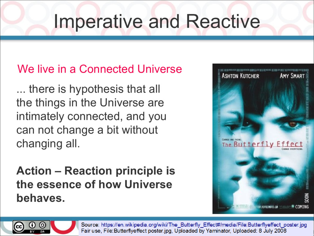 Imperative and Reactive 20 We live in a Connect...
