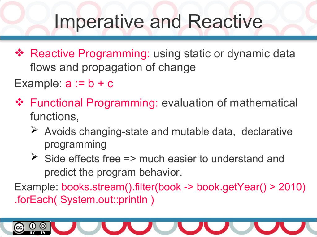 Imperative and Reactive  Reactive Programming:...