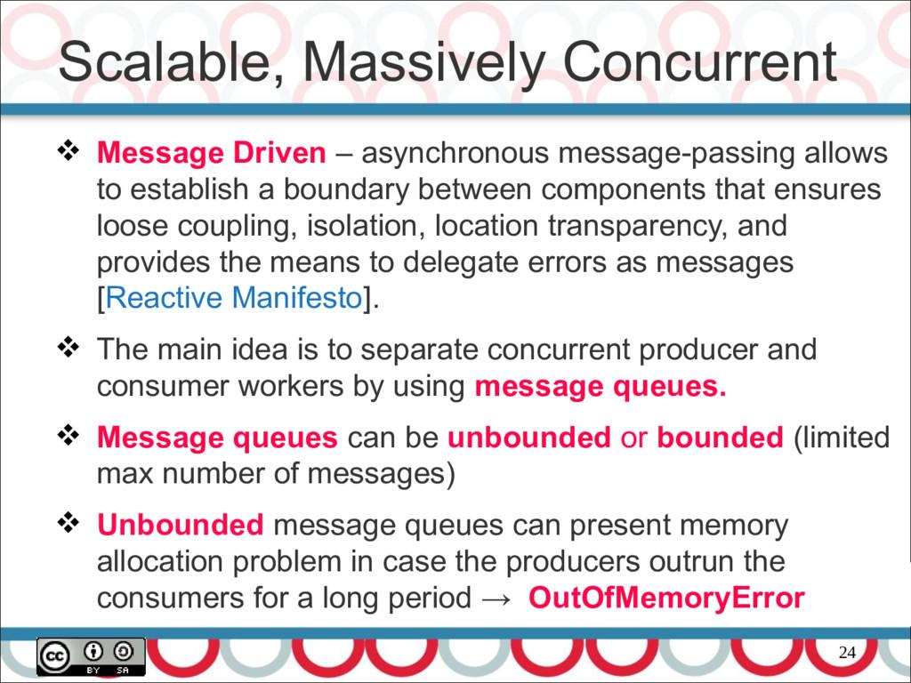 24  Message Driven – asynchronous message-pass...