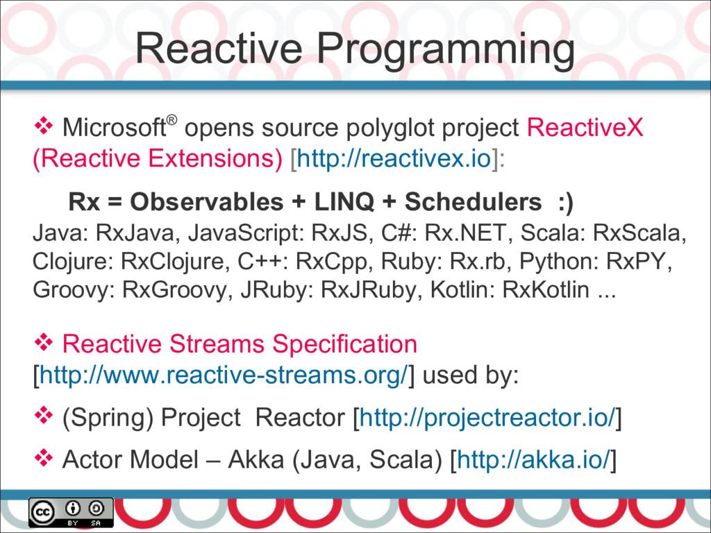 Reactive Programming 25  Microsoft® opens sour...
