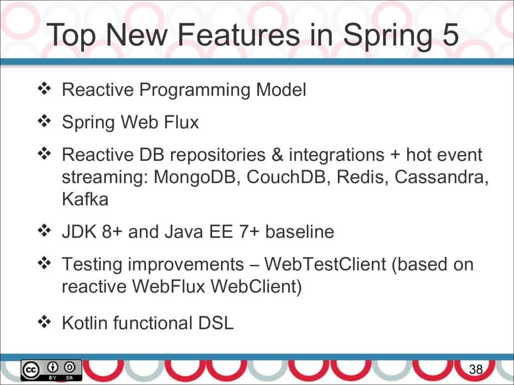 Top New Features in Spring 5 38  Reactive Prog...