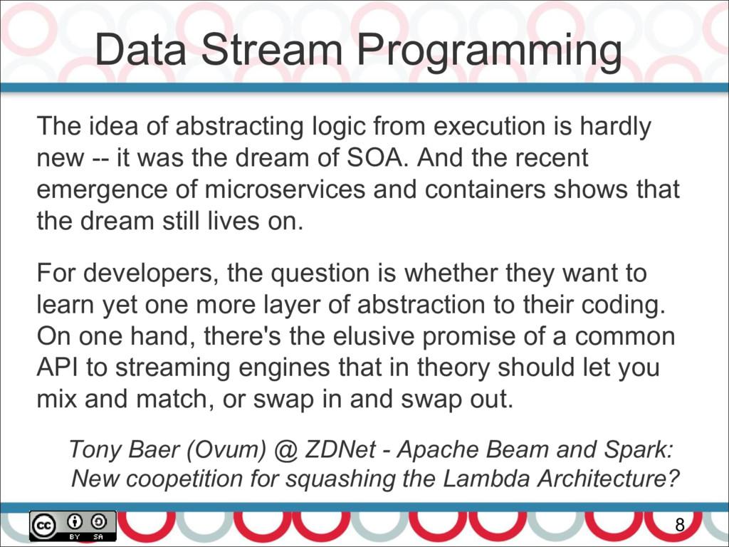 Data Stream Programming 8 The idea of abstracti...