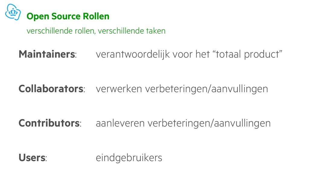 Open Source Rollen Maintainers: verantwoordelij...