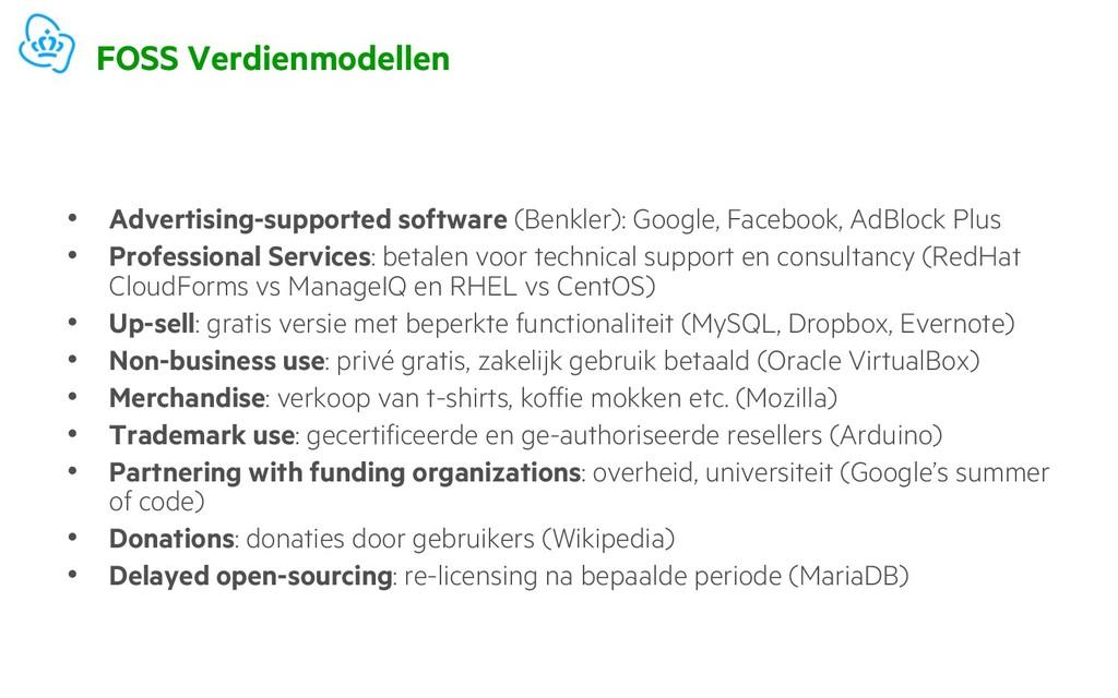 FOSS Verdienmodellen • Advertising-supported so...