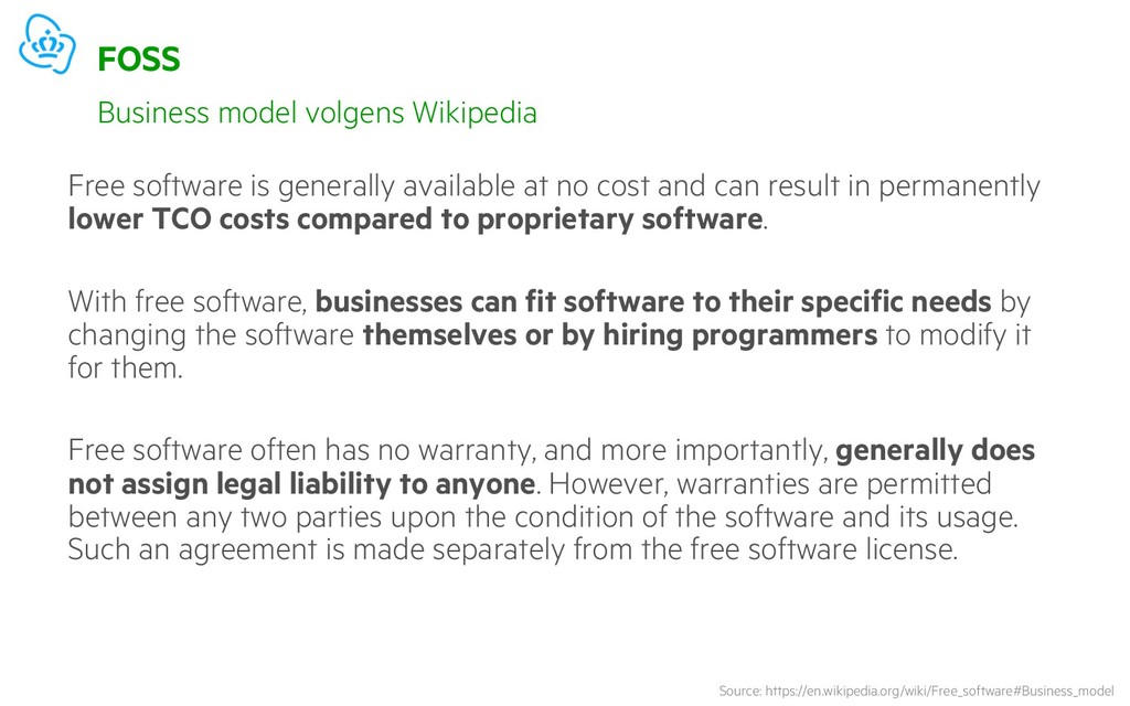 FOSS Free software is generally available at no...