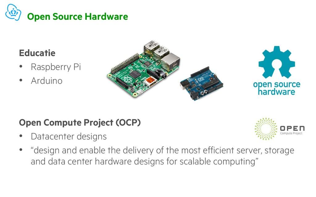 Open Source Hardware Educatie • Raspberry Pi • ...