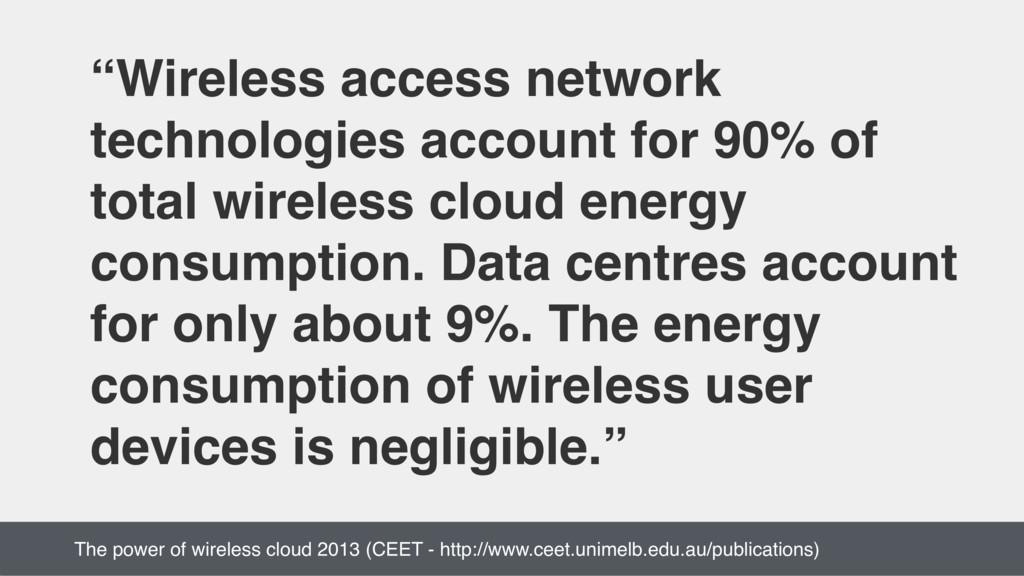"""Wireless access network technologies account f..."