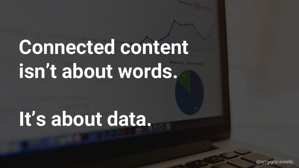 Connected content isn't about words. It's about...
