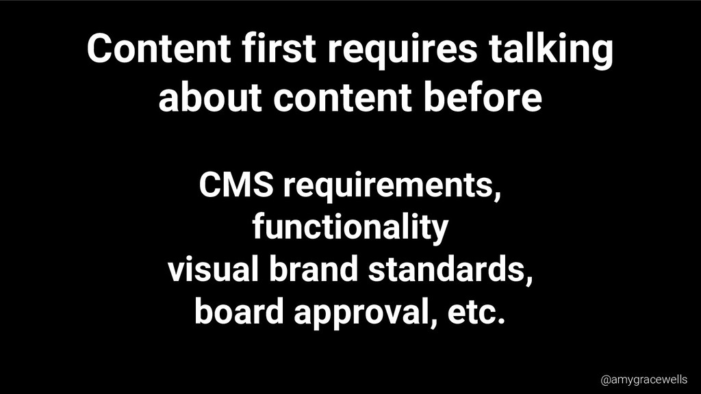 Content first requires talking about content be...