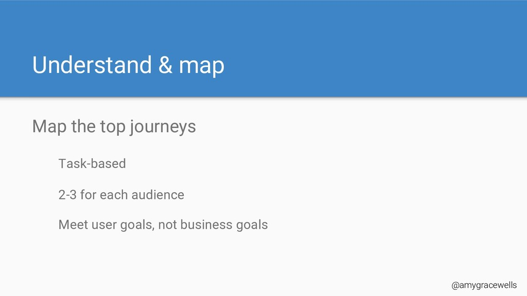 Understand & map Map the top journeys Task-base...