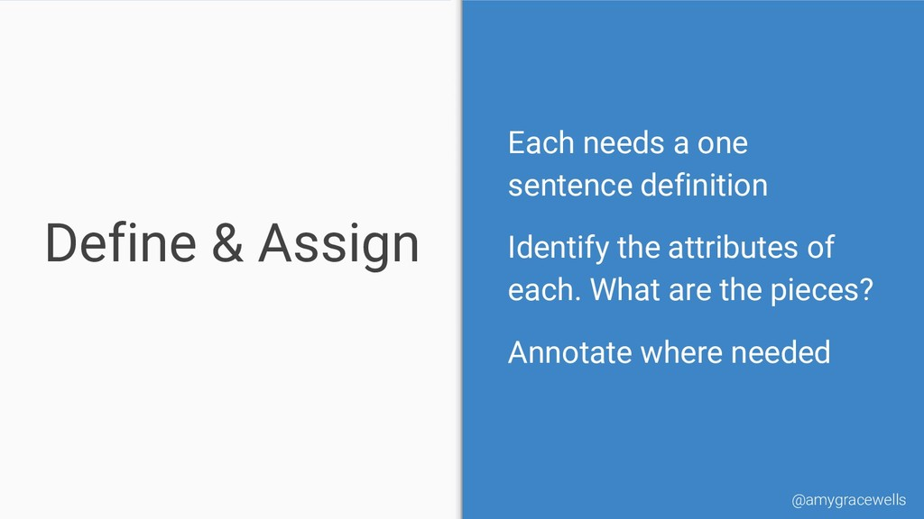 Define & Assign Each needs a one sentence defin...