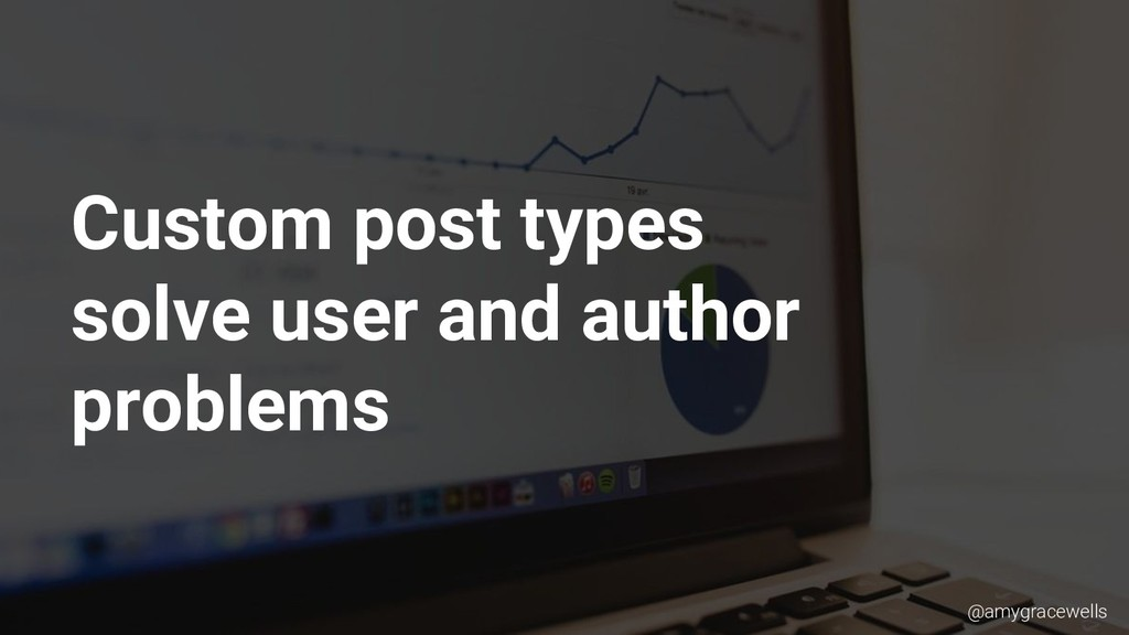 Custom post types solve user and author problem...
