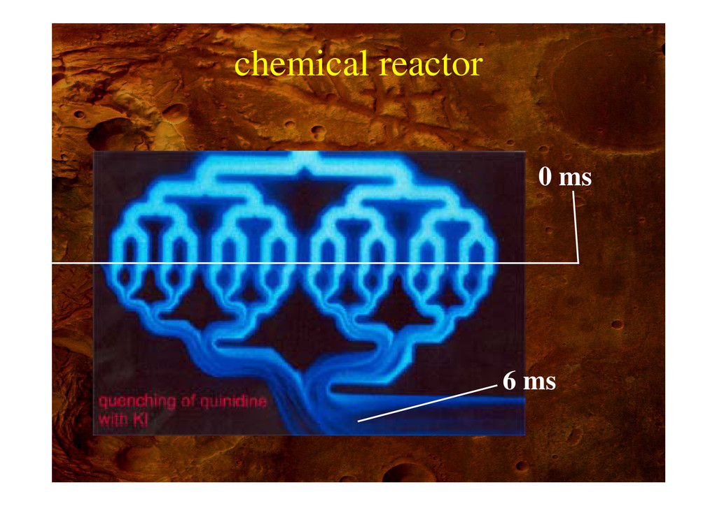 chemical reactor 0 ms 6 ms