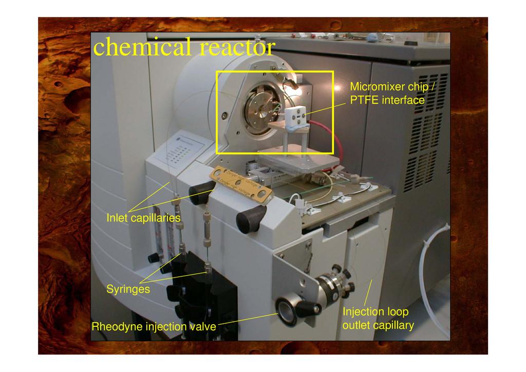 chemical reactor Micromixer chip / PTFE interfa...