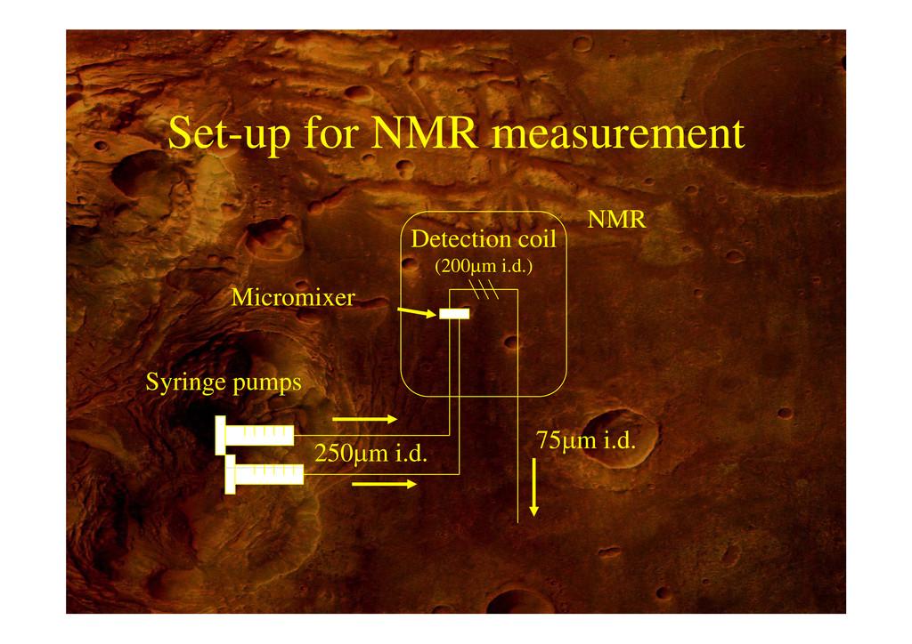 Set-up for NMR measurement NMR Detection coil M...