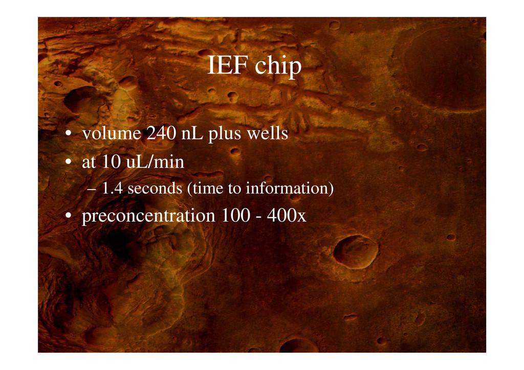 IEF hi IEF chip • volume 240 nL plus wells p • ...