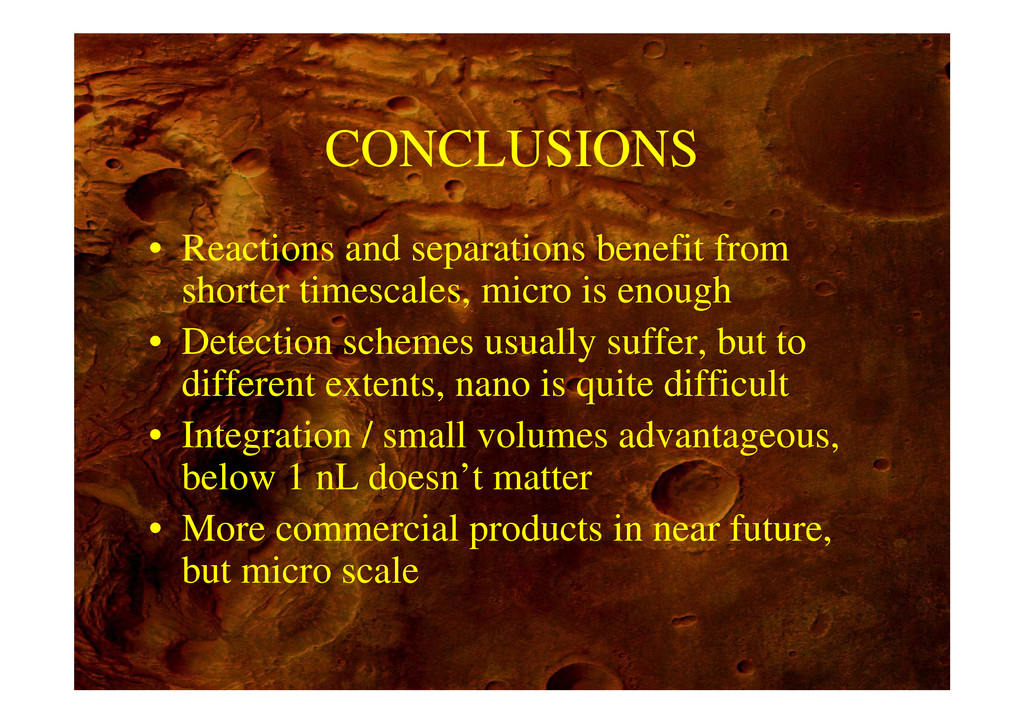 CONCLUSIONS • Reactions and separations benefit...