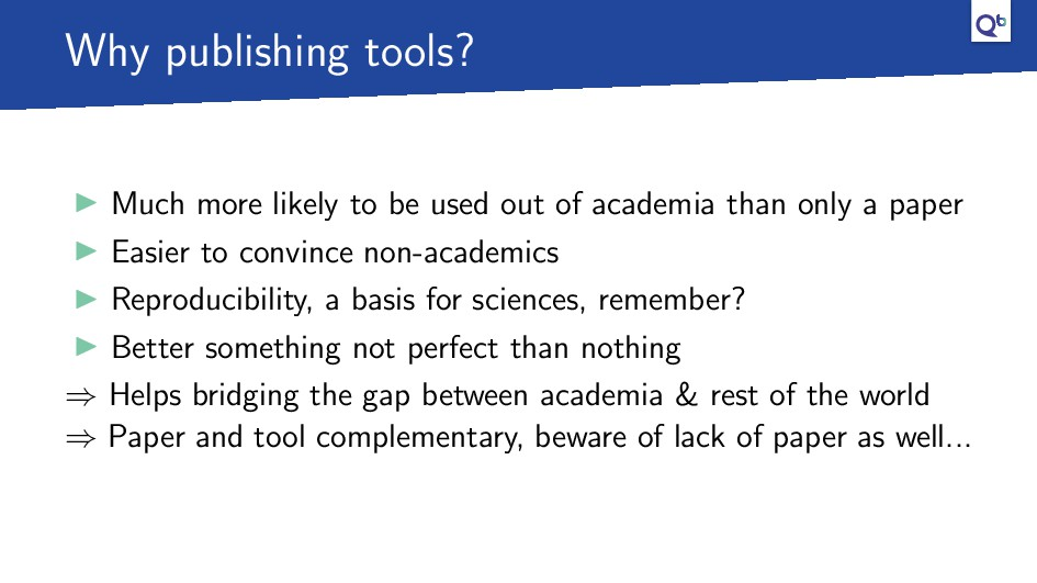 Why publishing tools? Much more likely to be us...