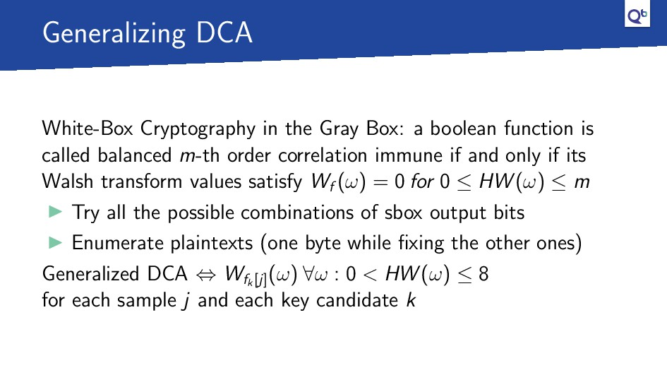 Generalizing DCA White-Box Cryptography in the ...
