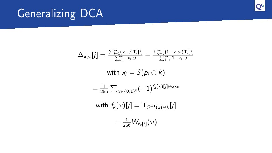 Generalizing DCA ∆k,ω [j] = m i=1 (xi ·ω)Ti [j]...