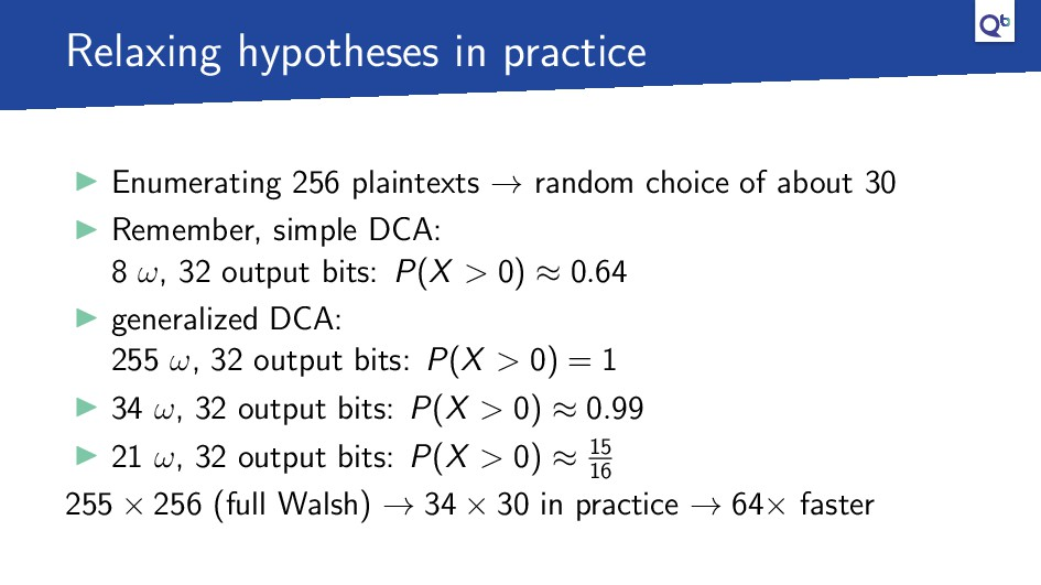 Relaxing hypotheses in practice Enumerating 256...