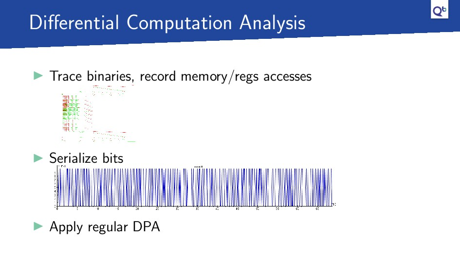 Differential Computation Analysis Trace binaries...