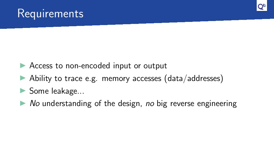 Requirements Access to non-encoded input or out...