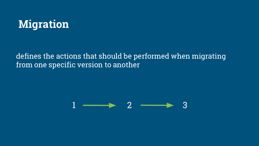 defines the actions that should be performed wh...