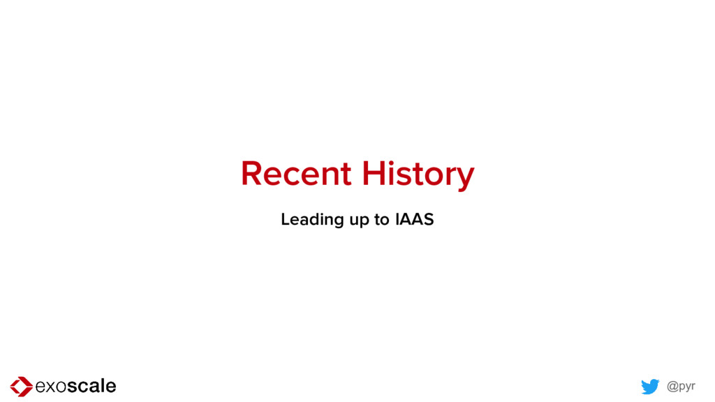 @pyr Recent History Leading up to IAAS