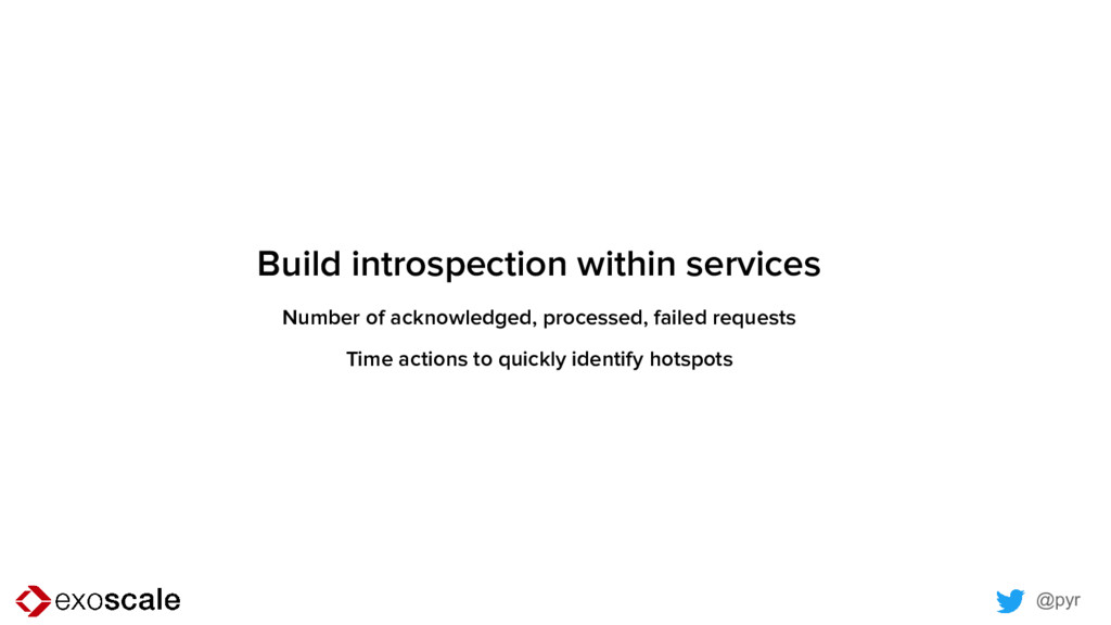 @pyr Build introspection within services Number...