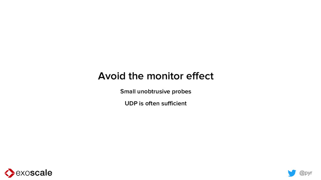 @pyr Avoid the monitor effect Small unobtrusive...