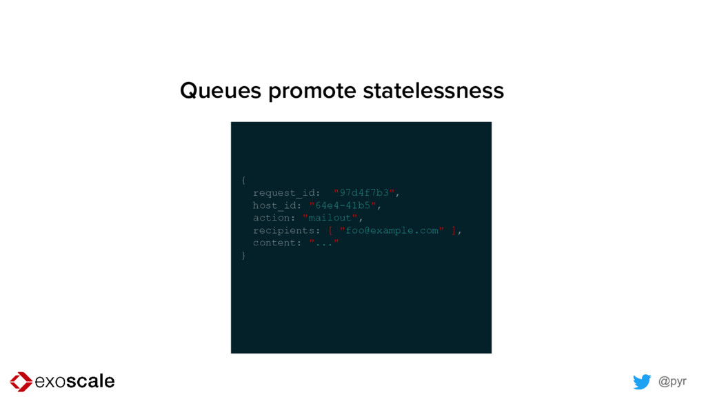 @pyr Queues promote statelessness { request_id:...