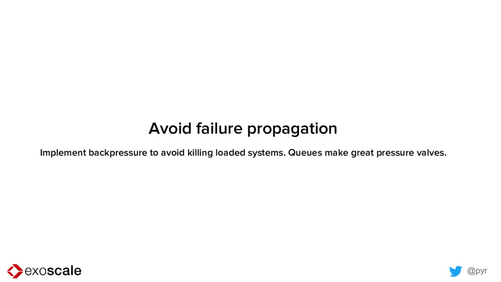 @pyr Avoid failure propagation Implement backpr...