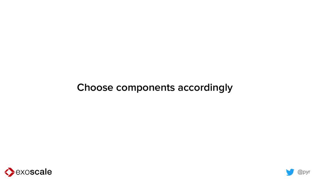 @pyr Choose components accordingly