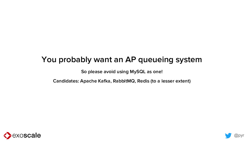@pyr You probably want an AP queueing system So...