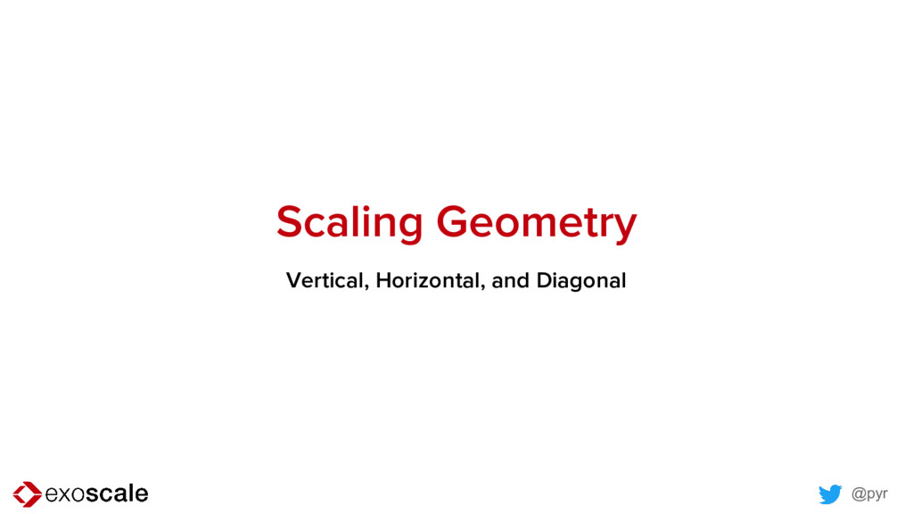 @pyr Scaling Geometry Vertical, Horizontal, and...