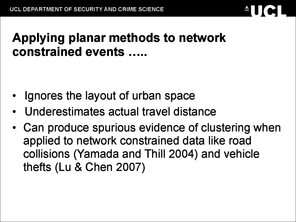 UCL DEPARTMENT OF SECURITY AND CRIME SCIENCE Ap...