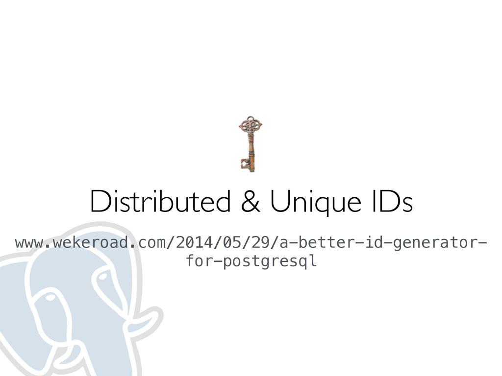 Distributed & Unique IDs www.wekeroad.com/2014/...