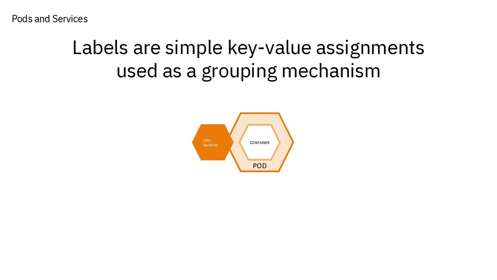 Labels are simple key-value assignments used as...