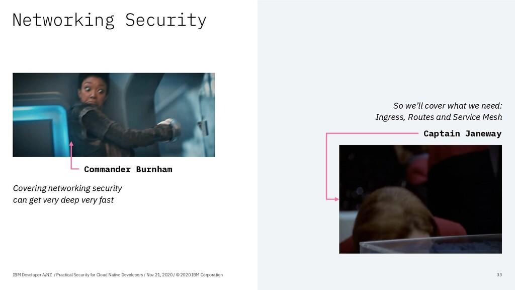 Networking Security IBM Developer A/NZ / Practi...