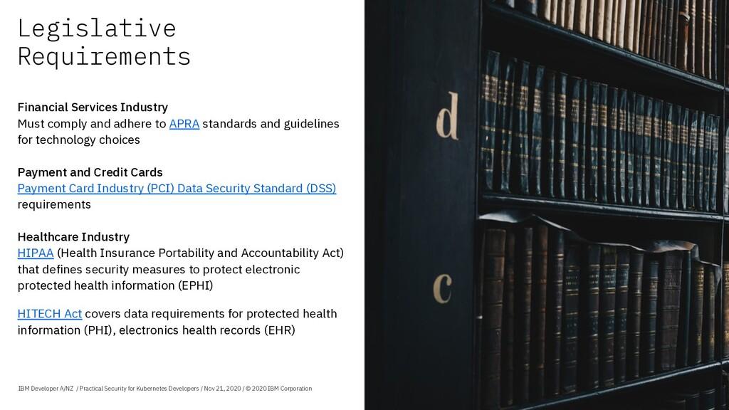 Legislative Requirements IBM Developer A/NZ / P...