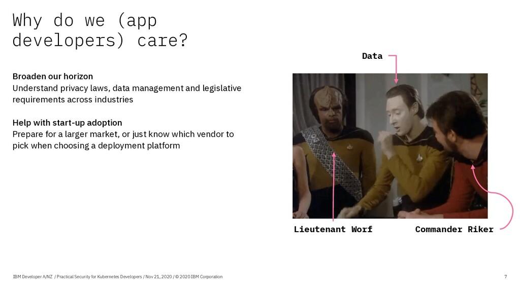 Why do we (app developers) care? IBM Developer ...