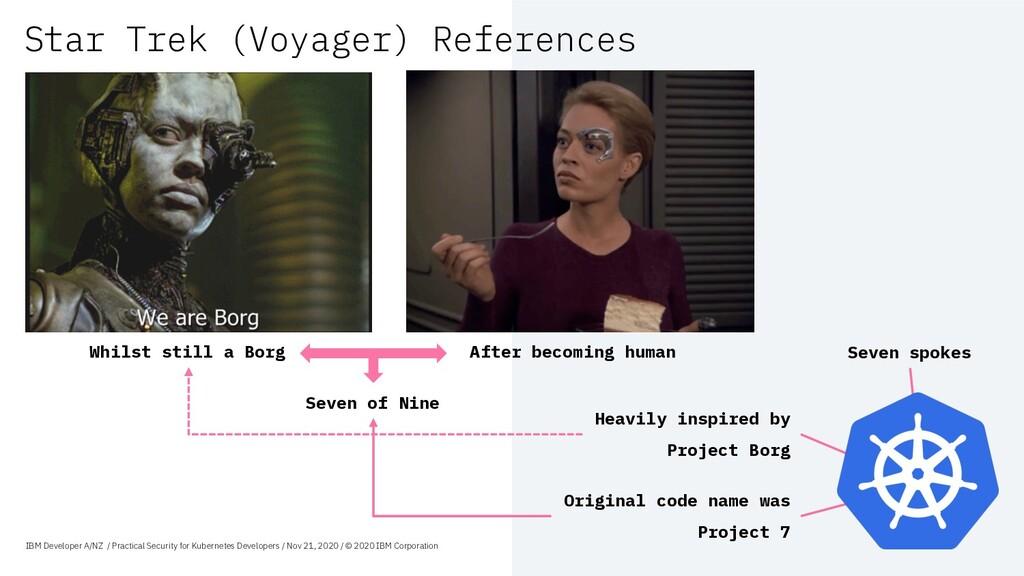 Star Trek (Voyager) References Seven spokes Whi...