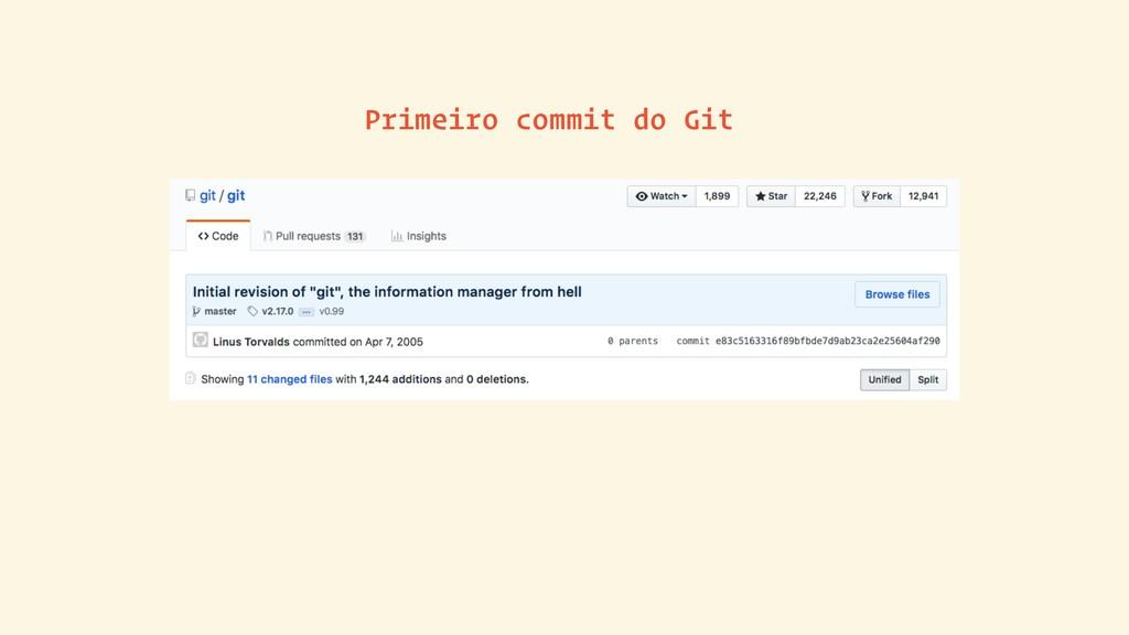 Primeiro commit do Git