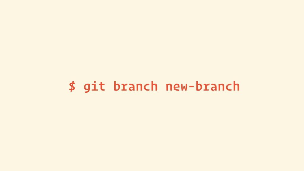 $ git branch new-branch
