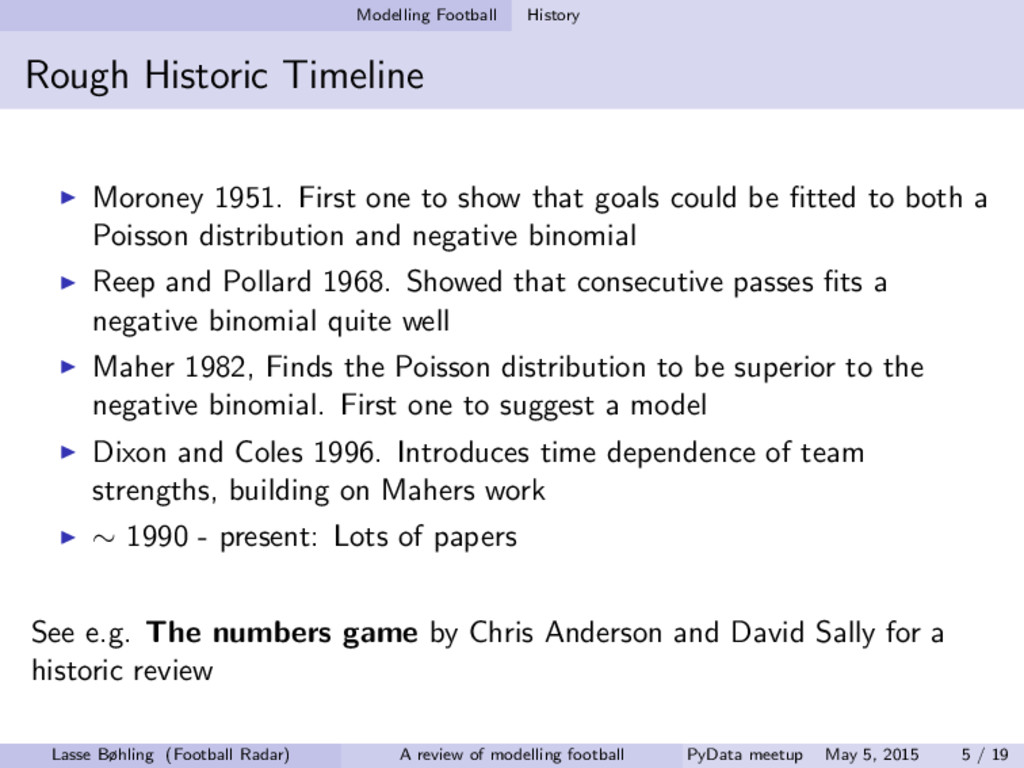Modelling Football History Rough Historic Timel...
